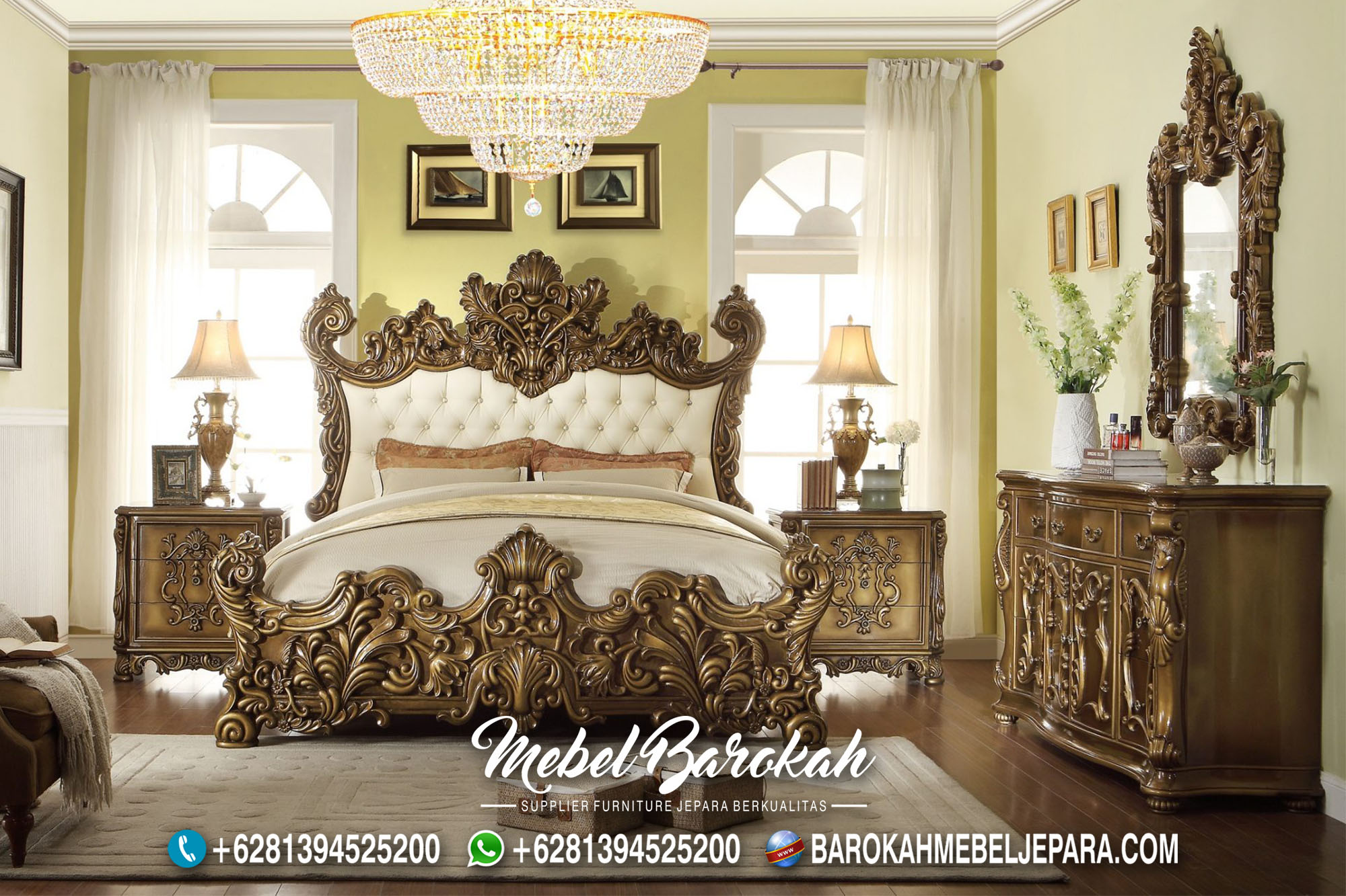 Bedroom Italian Luxury Casual Ukir JM-966
