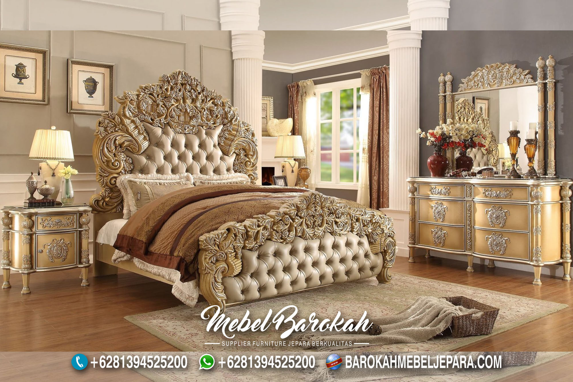 New Bedroom Set Desain Victorian Casual JM-974